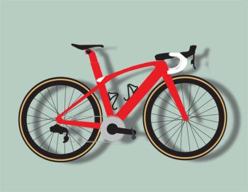 Robbie heeft ook een fiets van de zaak